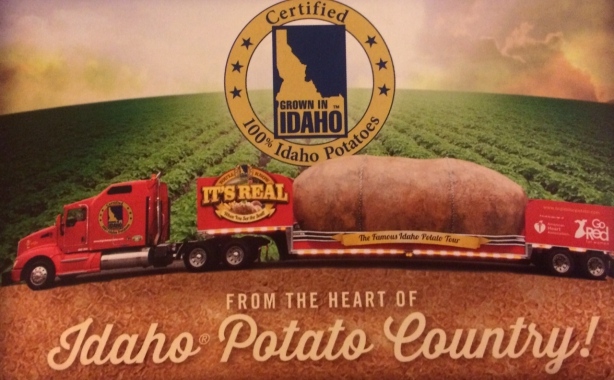 big idaho potato postcard