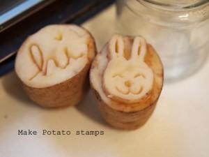 make potato stamps use
