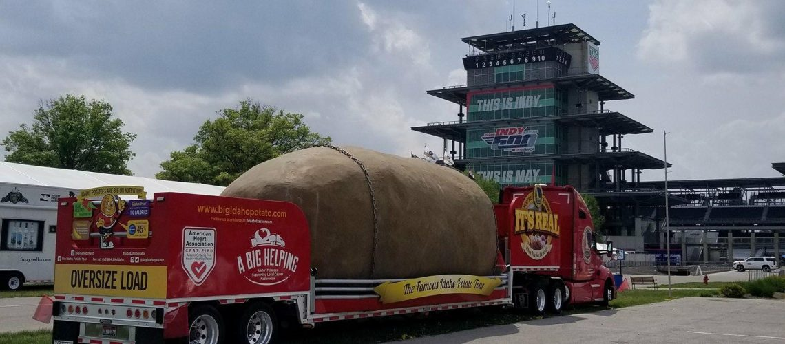 The Indy Pagoda and our Idaho Spud